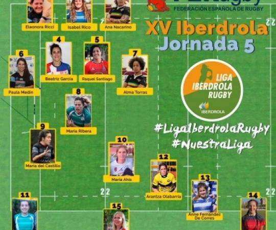 Mercè Vinyals i María Ribera al XV de la 5ª Jornada de la Lliga Iberdrola