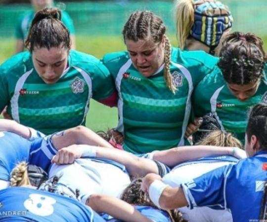 Aroa González, jugadora del Club Esportiu INEF Barcelona, llegenda del rugby espanyol