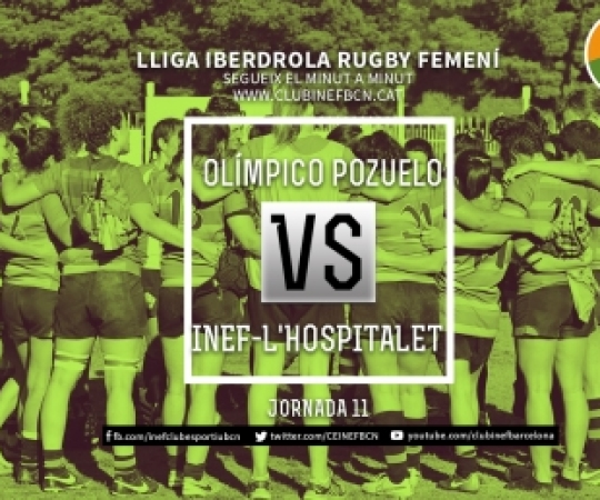 Minut a minut: Olímpico Pozuelo vs INEF-L'Hospitalet, 11ª Jornada Lliga Iberdrola 2018-2019