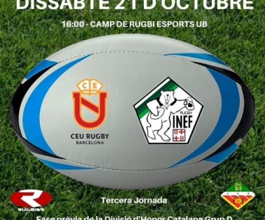 CEU Rugby vs INEF Barcelona, 3ª Jornada de la Lliga Catalana Rugby masculina