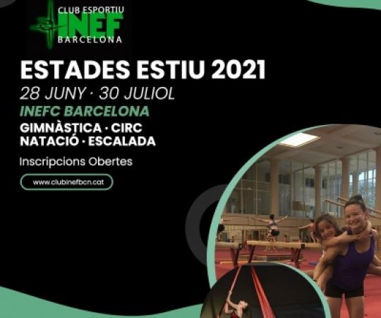 Preinscripcions Obertes per les Estades Esportives d'Estiu 2021 a INEF Barcelona
