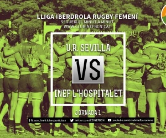 Minut a minut: Universidad Rugby Sevilla vs INEF-L'Hospitalet, 1ª Jornada Lliga Iberdrola 2018-2019