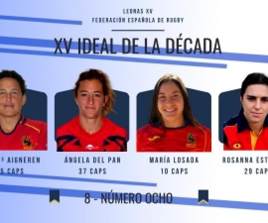 La FER escull el XV de la Dècada: vàries jugadores d'INEF Barcelona entre les seleccionades